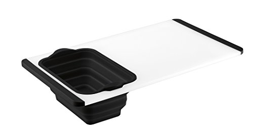 Cuisinart CTG-00-CBC Cutting Board with Colander - Black