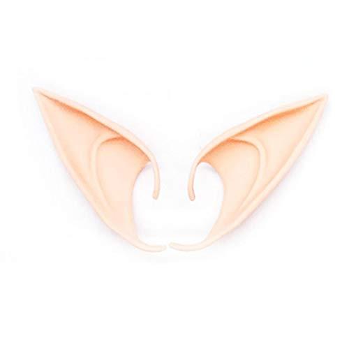 linjunddd 1 Paar Halloween Latex Elf Ears Cosplay Masken-Fee Kobold Ohren Natur Farbe