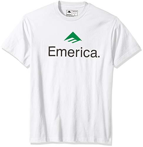 Emerica Herren Skateboard Logo T-Shirt, weiß, Klein