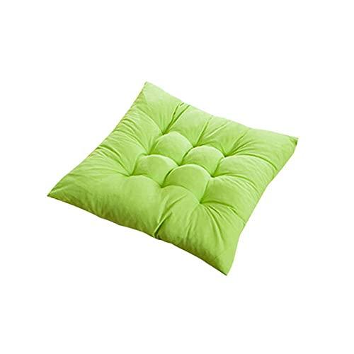LVLUOKJ Cojines para Silla,40x40 cm,con Correas de sujeción para Interior y Exterior, Cojín Decorativo de Asiento para Silla de jardín,Fruit Green
