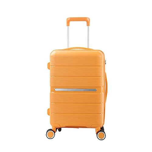 SGCDKSP Valigia Universal Wheel Boarding Case Password Box Box Carrello Bagagli Valigia,Giallo,28 Inches