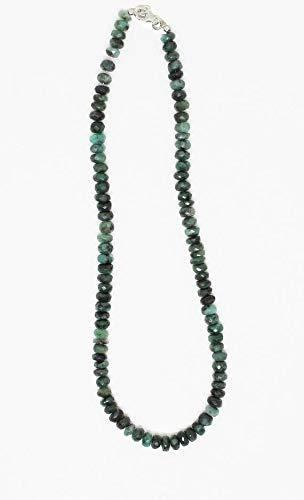 LOVEKUSH LKBEADS elegant grön smaragd fasetterade pärlor sällsynt halsband 7 mm till 8 mm fasetterade smaragd pärlor halsband – redo att bära halsband 45 cm lång/maj månadssten kod-HIGH-2244