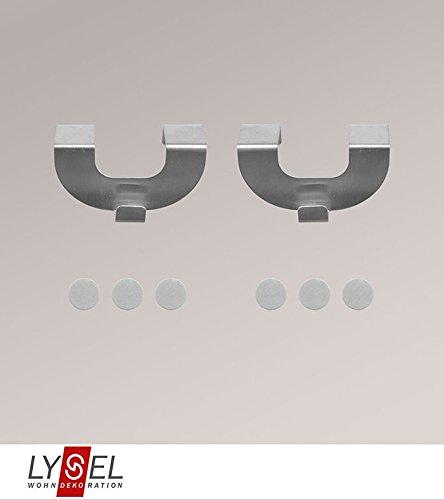 LYSEL® Set Haken für Ösen Breite: 7.50cm Höhe: 4cm