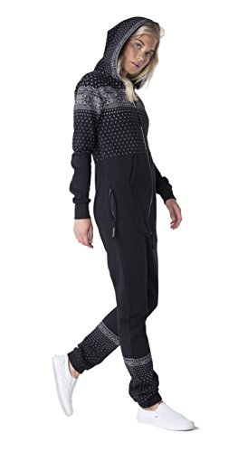 OnePiece Damen Jumpsuit Crystal, Schwarz (Black) - 3