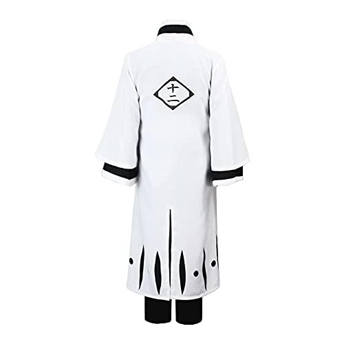 Maimiao Adultos Anime japonés Cosplay Genryuusai Shigekuni SOI Fon Shunsui Kimono Disfraces Uniforme Chaqueta Pantalones Abrigo Conjunto Completo para Fiesta de Halloween