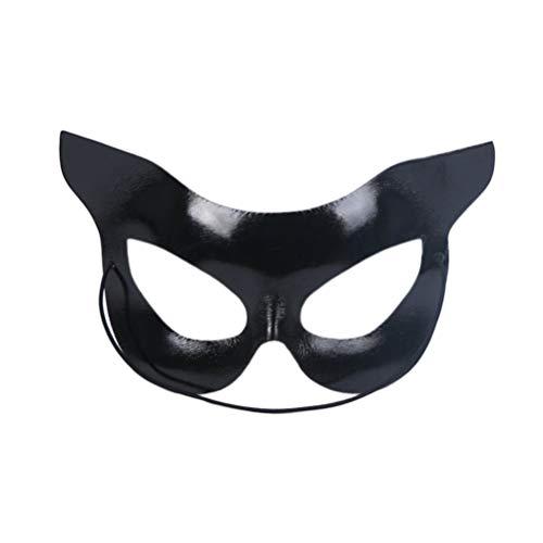 Holibanna Katze Maske halbe Gesichtsmaske Catwoman Maske Halloween Party Kostüme