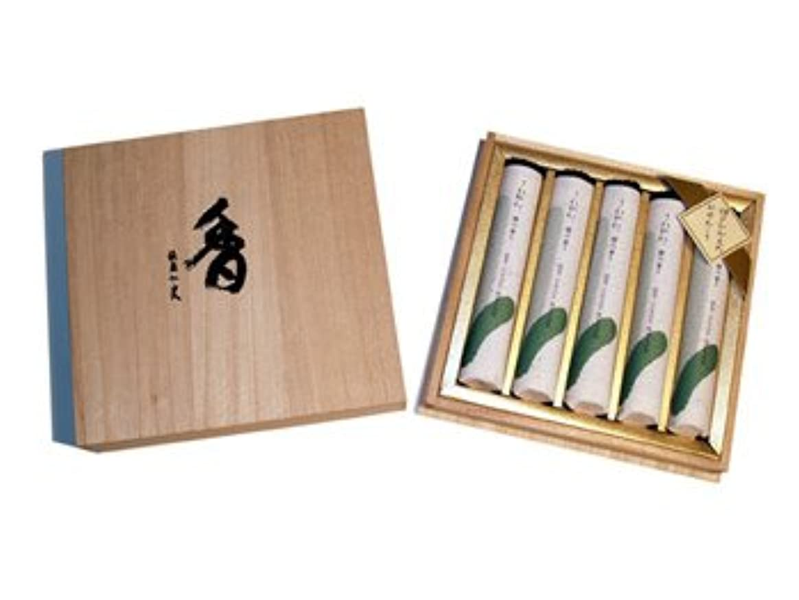 到着するルート本能さわやか檜の香り短寸5把桐箱