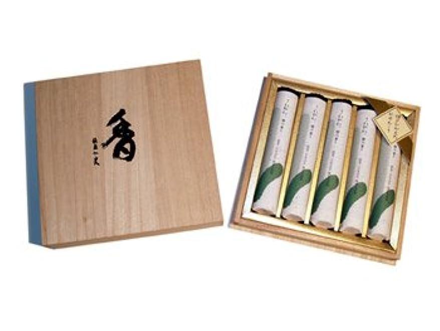 対応水差し法王さわやか檜の香り短寸5把桐箱