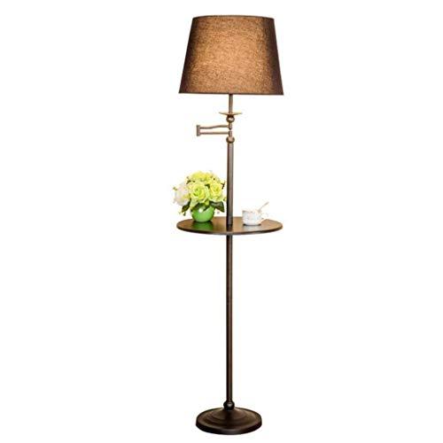 HXCD Lámpara de pie y Estante de Mesa con Brazo Extensible oscilante Pantalla de lámpara difusora de luz de Suelo para Sala de Estar, habitación Familiar, Oficina o Dormitorio Lámpara de Poste al