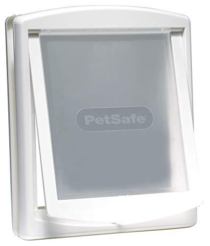 PetSafe Porta Staywell per l'ingresso e l'uscita di cani e gatti; facilità di montaggio; gattaiola interna / esterna; pannello di chiusura (incluso) struttura solida, garantita, bianca L