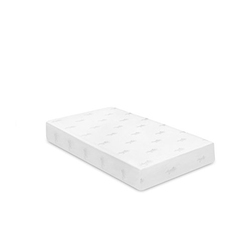 Furinno Angeland Luxury 10-Inch Bamboo Charcoal Infused Memory Foam Mattress, Twin,