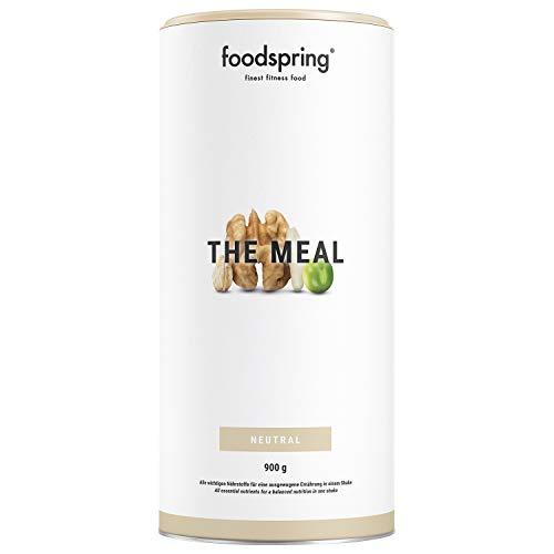 foodspring The Meal, 900g, Mahlzeitenersatz - Ausgewogene und vollwertige Mahlzeit als Shake, Trinkfertig in Sekunden