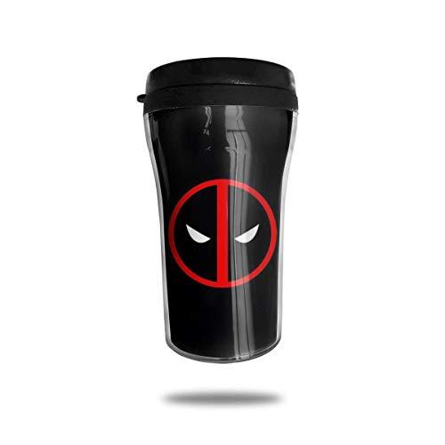 De-adpo-ol - Taza de café con aislamiento de doble pared, mini taza de viaje para coche, botella de agua