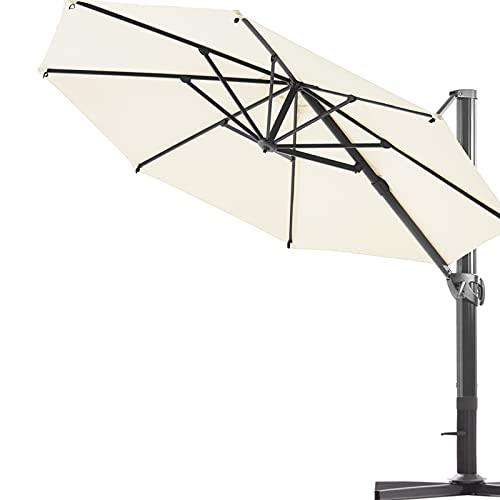 VINEY Banquet 11 ft. Aluminum Cantilever Umbrella...