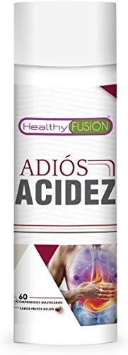 Potente antiácido y antirreflujo estomacal | Inhibe el ácido gástrico y protege el estómago | Mejora la salud del sistema digestivo | Alivio rápido y duradero | 60 masticables sabor frutos rojos