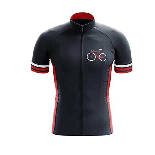 Road Bike Cycling Short-Sleeved Solid Color Cycling Jersey, A Variety of Cycling Short-Sleeved Simple Mountain Bike Cycling Tops, Quick-Drying and Breathable Cycling Jerseys (T,L)