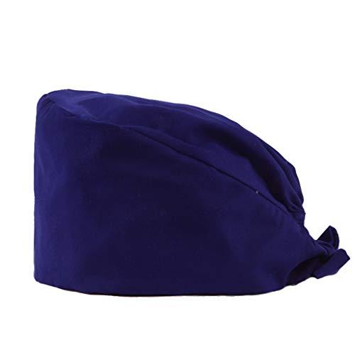 Sombreros de trabajo for hombres y mujeres  Gorros de calabaza de color puro  Salones de belleza, Tiendas de mascotas, Clínicas dentales Gorra de quimioterapia contra el cáncer ( Color : Navy )