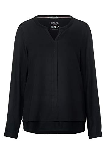 Cecil Damen 341743 Bluse, Schwarz (Black 10001), Medium (Herstellergröße:M)