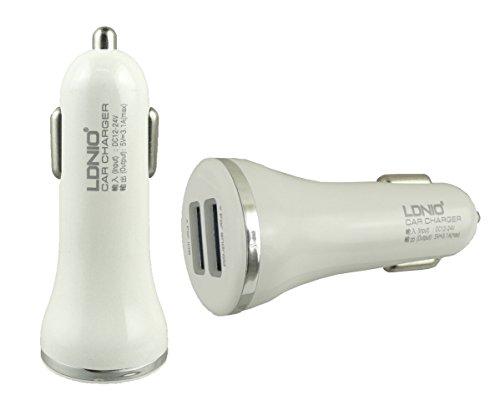 LDNIO Weiß/Silber Schnelle 3.1A Dual USB KFZ Ladegerät Geeignet Für InnJoo F701/InnJoo F5 Tablet PC 7 Zoll