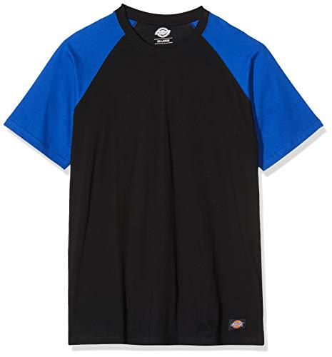 Dickies Schoeisel SH2007 100% Katoen Two Tone T-Shirt, Zwart/Royal, XX-Large Size