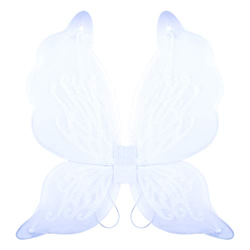 Dushi Butterfly Fairy Wings Dress Up Wings Birthday Party Favor Accessory Halloween Costume White