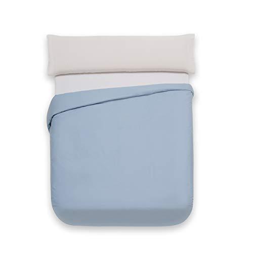 Sancarlos Básicos, Funda nórdica Lisa, Algodón 100%, Color Azul, Cama de 135