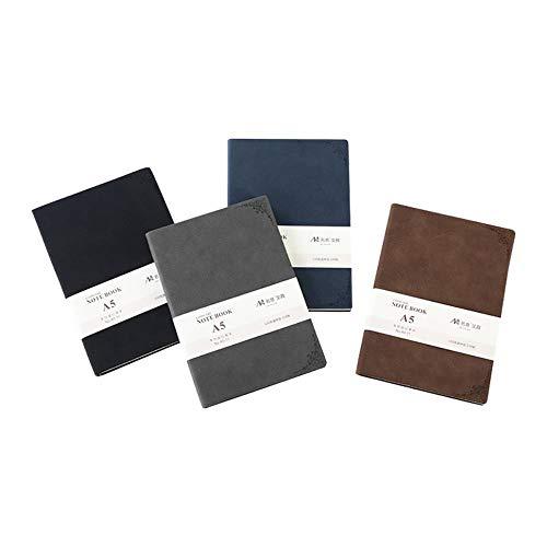 Creative Retro Sheep BAPI Face - Cuaderno de negocios, color gris, A5