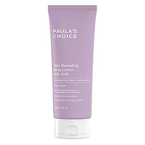 Paula\'s Choice Skin Revealing Body Lotion 10{7d38ec6b6106b1bdfbfb13070df6e6e5ec365f287bb40d1bd2d2936b273b638a} AHA - Anti Aging Körper Peeling gegen Pickel, Pigmentflecken & Keratosis Pilaris - mit Glycolsäure & Shea Butter - Alle Hauttypen - 210 ml