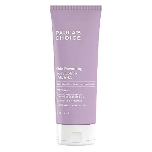 Paula's Choice Skin Revealing Body Lotion 10% AHA - Anti Aging Körper Peeling gegen Pickel, Pigmentflecken & Keratosis Pilaris - mit Glycolsäure & Shea Butter - Alle...
