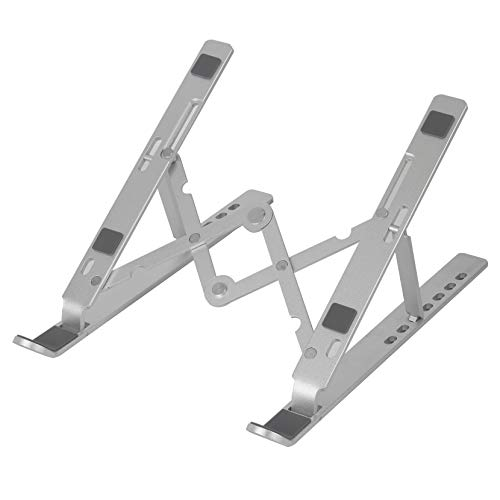 Laptop Stand, Tablet Stand, Portable Stand, Adjustable Stand, Aluminum, Ergonomic, Foldable, Compatible with Phone, Tablet, All Laptops (Up to 18 inches) with 7 Levels Height Adjustment