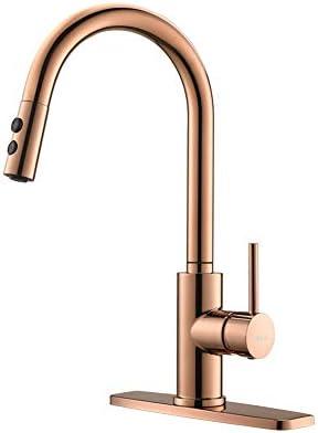 Copper Rose Gold Kitchen Faucet Kitchen Sink Faucet Sink Faucet Pull Down Kitchen Faucets Bar product image