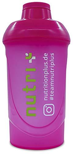 Lady-Shaker 500ml - Eiweiß-Shaker für Frauen - Super Pink - BPA-frei - ohne Weichmacher - für Fitness Bodybuilding Sport - Nutri-Plus