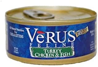 Verus Turkey, Chicken and Ocean Fish Canned Wet Cat Food (5.5 oz.) [Set of 24]