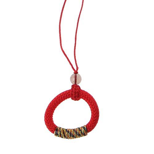 lijun Handgemachte Brille Halter Cricle Ring Schlüsselbund DIY Auto Schlüsselhalter Schlüsselring Wristlet