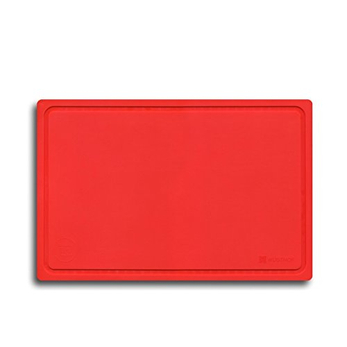 WÜSTHOF Schneidunterlage rot Küchenzubehör, Kunststoff, 38 x 25 x 4 cm