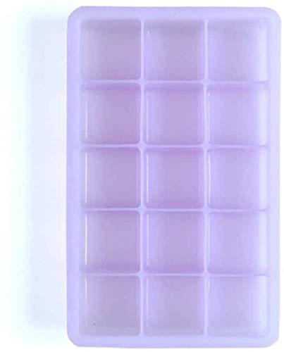 Eis Am Stiel Formen Silikon Mit Deckel 15-Loch Eisschale Lebensmittelqualität Eisgitter Form Babynahrung Ergänzung Ice Pop Maker (Farbe: Orange, Größe: 13 × 18,5 × 3,5 Cm)