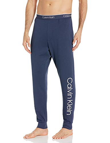 Calvin Klein Men's Immerge French Terry Jogger, Mood Indigo/High Rise, M