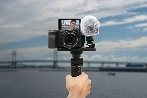 Sony GP-VPT2BT Handgrip (for Selfies and Vlogging, Can Also be Used As a Tripod, Compatible with Select Alpha and Cyber-Shot Cameras from Sony) Black