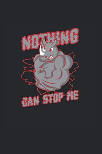 Rhinozeros Muskeln – Fitnessstudio Stop Me  Notizbuch: Fitness Erfolg   Notizheft   Schreibheft   Tagebuch  