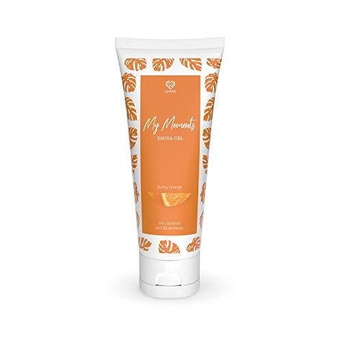 LoWell® Sauna Gel aus Honig 125g - Sauna Honig mit Peeling Körner aus gemahlenem Koriander - Naturkosmetik Saunahonigcreme - ideal für after Sauna - Sunny Orange