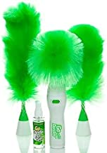 Fly Hand-Held, Sward Go Dust Electric Feather Spin Motorised Cleaning Brush Set Home Duster Feather Dust Cleaner Brush for...