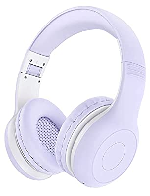 Kids Wireless Headphones Over Ear with Microphone for School, Children Headset Wireless 5.0 for Boy Girl Toddler Teen up to 15 Hours Playtime, with HD Stereo Sound, for iPad, Phone, Tablet, Chromebook by Childgem