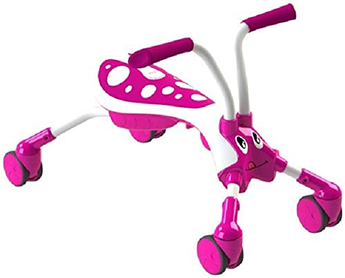 Mookie Scramblebug 4-Wheel Foldable Foot-to-Floor Ride-On with 360 Wheels | Develop Your Toddler's Balance and Motor Skills, Fun with No Surface Scratches! | for Kids 12 Months and Up | Candy