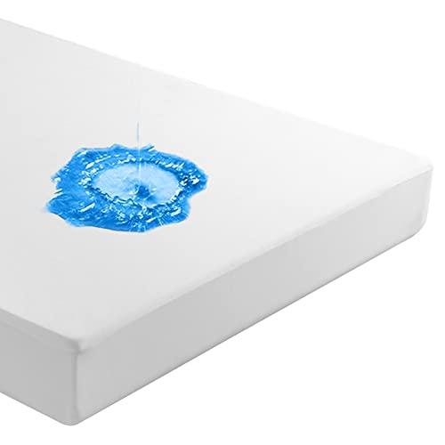 Beedsooth Tencel Protector de Colchón Impermeable, Fresco Hipoalergénico Cubre Colchón - 135x190cm, Blanco