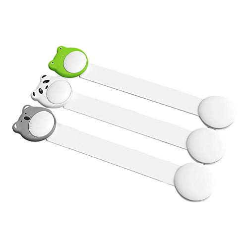 Fxhan Child Safety Locks Baby Proof Cabinet Drawer Oven Toilet Seat Fridge Door Adhesive No Drill Strap Bianco