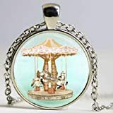 Merry Go Collier Rond Vintage Carrousel Cheval Cirque Carnaval Art