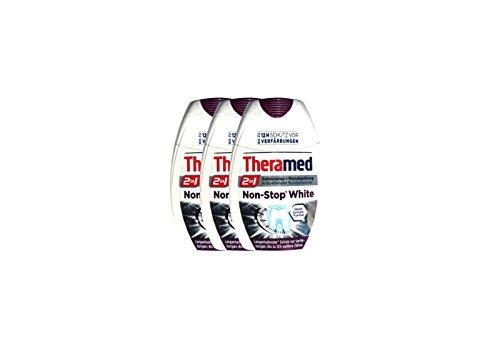 3x Theramed Non-Stop White Antibakterieller-schutz 2 in1 Zahncreme Mundspülung