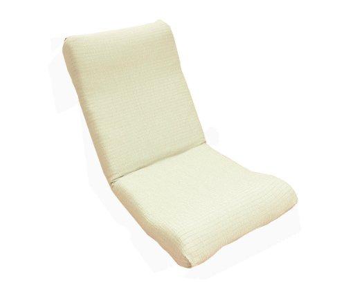 日本製 ぴったりフィット 撥水 のびのびストレッチ 座椅子カバー アイボリー