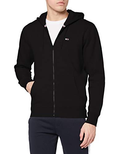 Tommy Jeans Herren TJM Regular Fleece Zip Hoodie Pullover, Schwarz, M