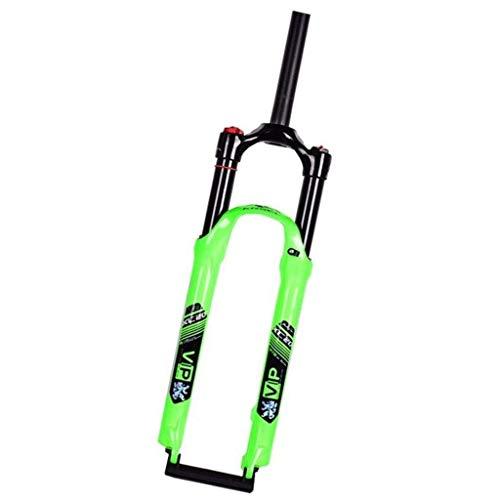 Forcella Anteriore, Forcella pneumatica in Carbonio bloccata con Controllo della Spalla MTB 26 27,5 29 Forcella Ammortizzata Forcella per Mountain Bike a sgancio rapido per Bicicletta (Colore: ve